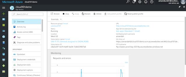 Cloud 101 Webframework Tutorial: Django Web App on Microsoft
